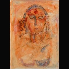SIGIRIYA | 70 x 50 cm | Mixta sobre cartón | 2000