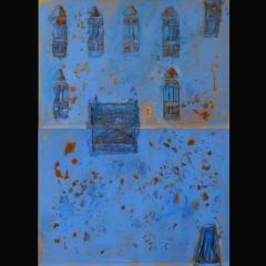DOGON DOOR I | 260 x 178 cm |Mixta sobre tela |1998