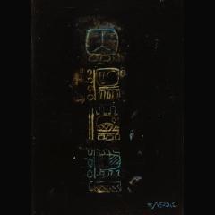BLACK MAYA GLYPH | 100 x 70 cm |Mixta sobre cartón |2002