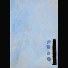 BLUE MAYA GLYPH | 105 x 75 cm |Mixta sobre cartón |2002