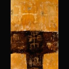 CIMIER SENUFO | 116 x 81 cm |Mixta sobre tela|2002