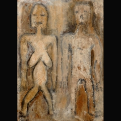SEPIK COUPLE | 70 x 50 cm | Mixta sobre papel | 1997