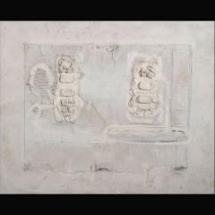 MAYA STRUCTURE [PUUC] | 100 x 80 cm | Mixta sobre tela| 2008