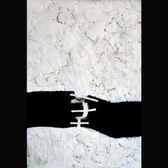 PEU TRENCAT A CAP DE CREUS | 75 x 52 cm | Mixta sobre cartón y madera |2012